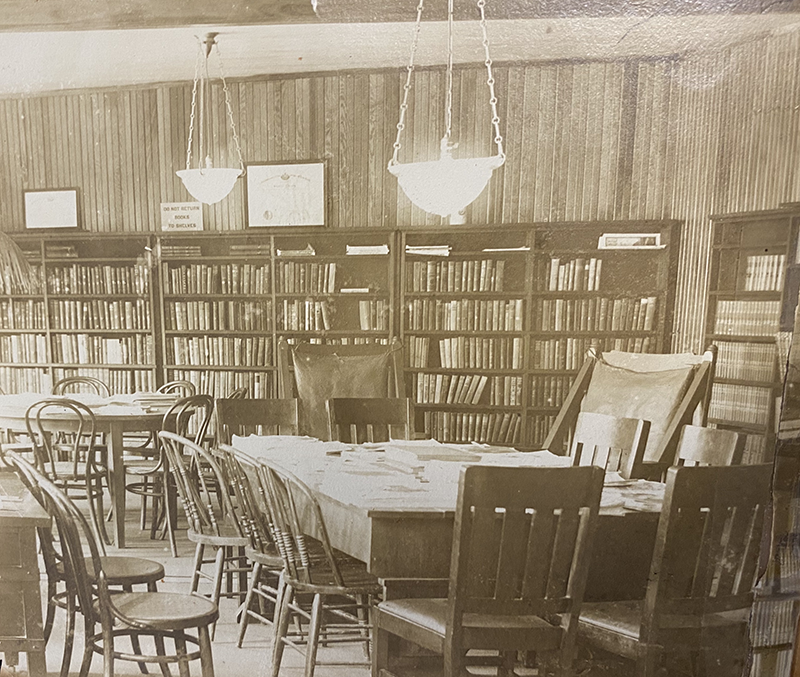 Sayville Library in early 1900s
