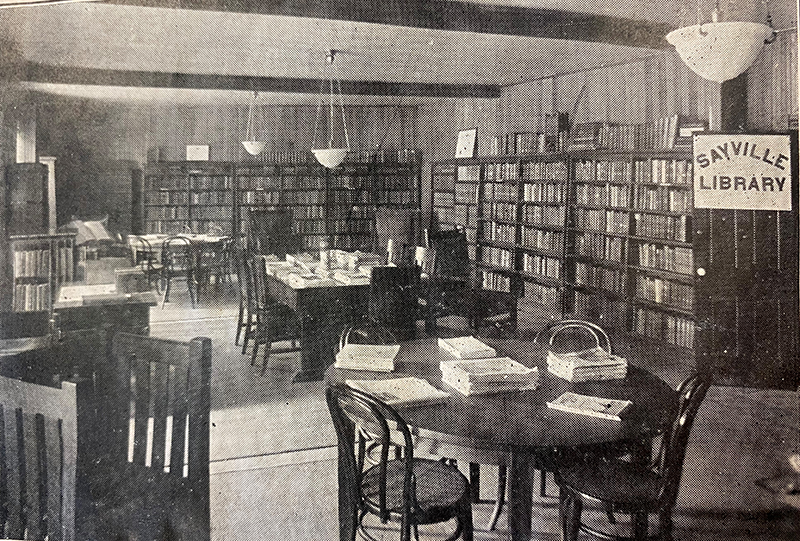 Interior shot of the Sayville Library in 1924