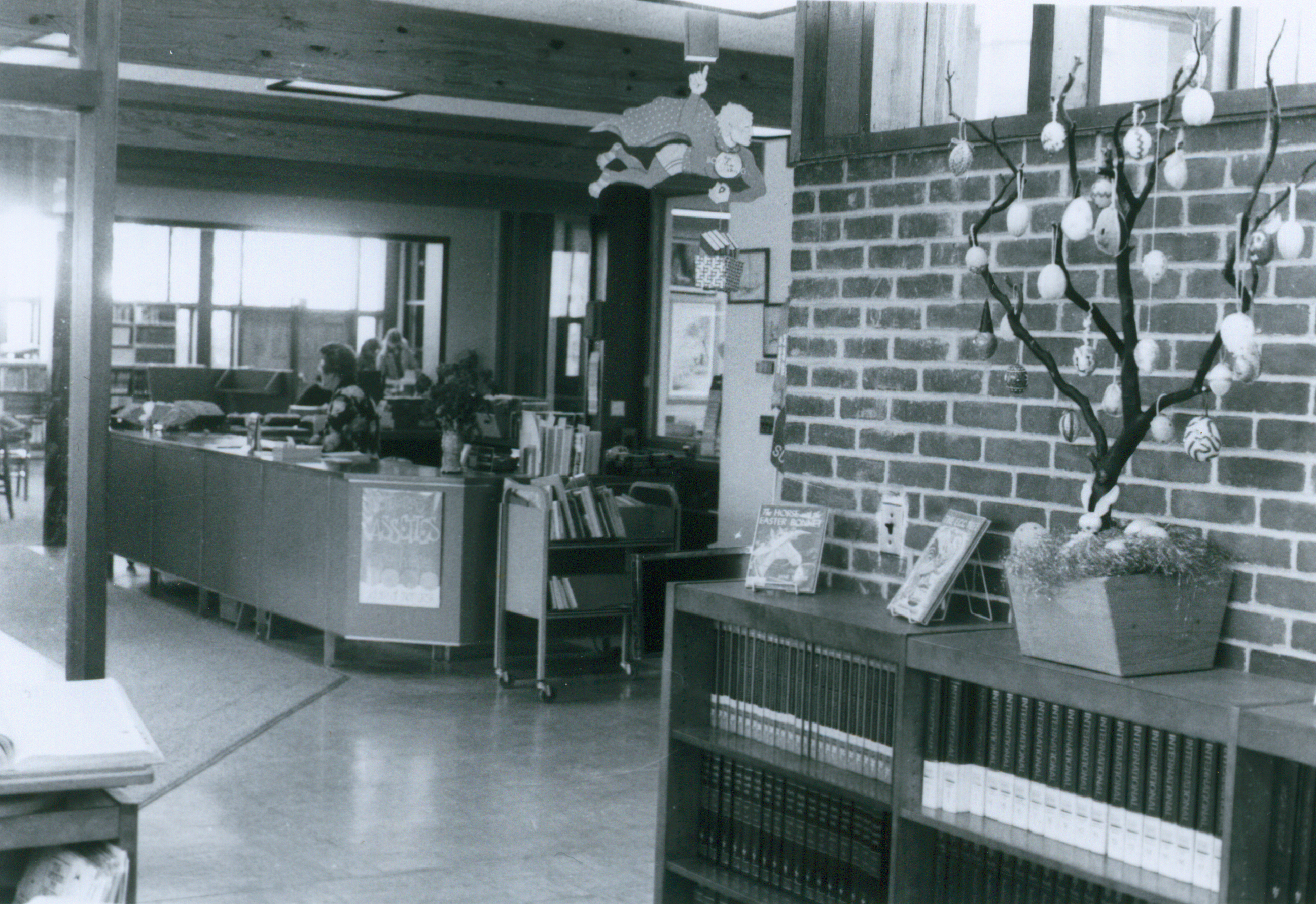 Circulation desk in 1978