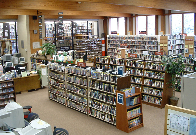 interior shot of Adult Services in 2006