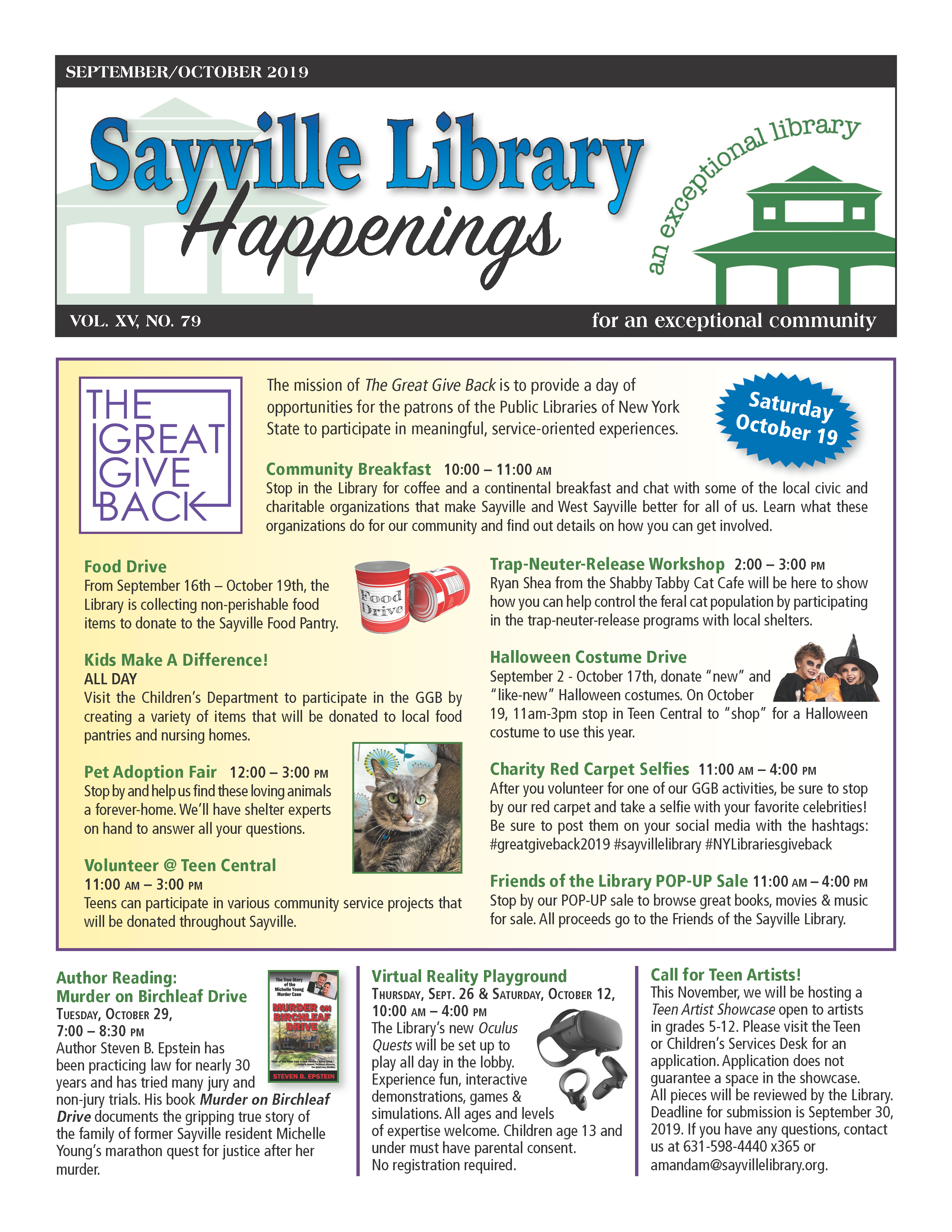 September/October 2019 newsletter front page thumbnail