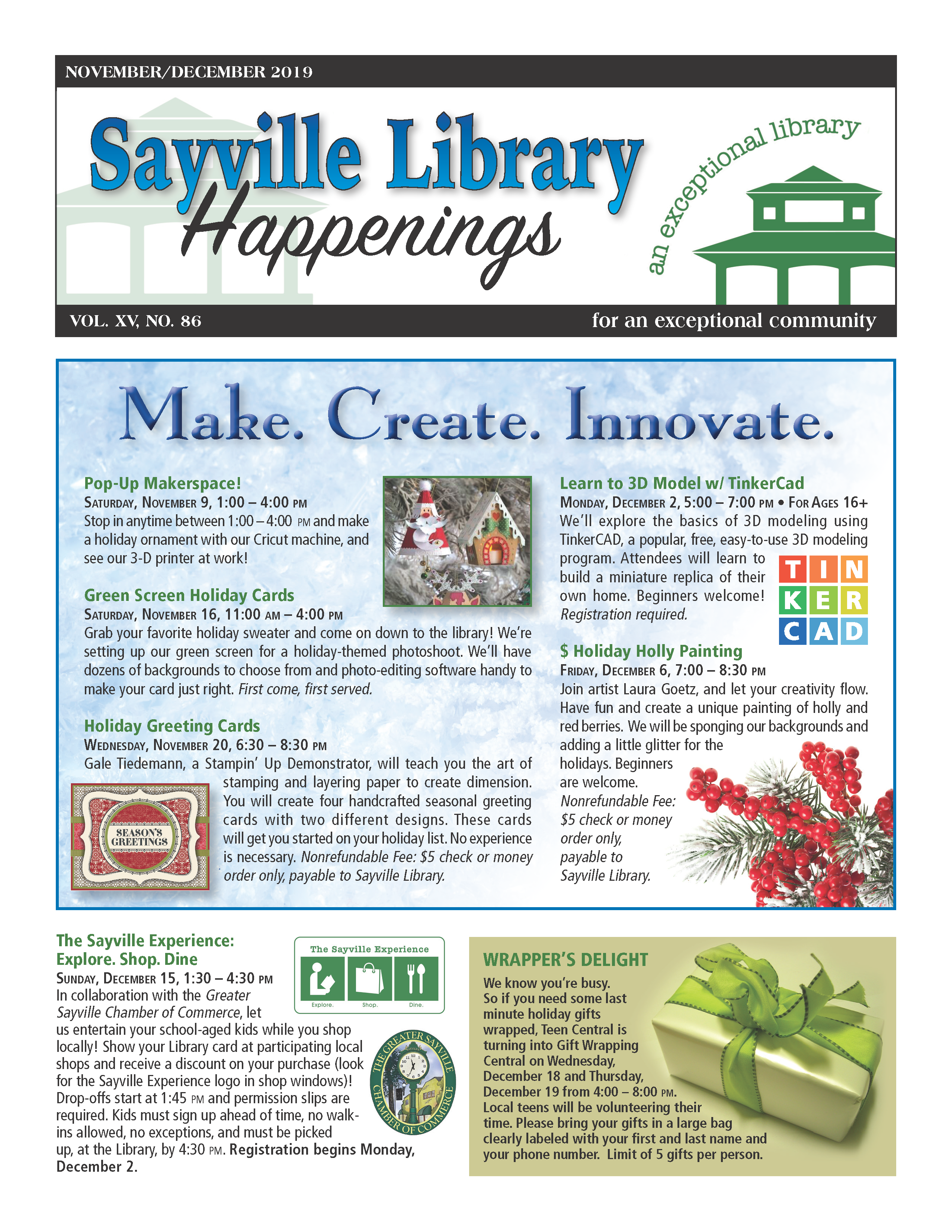 November/December 2019 newsletter front page thumbnail
