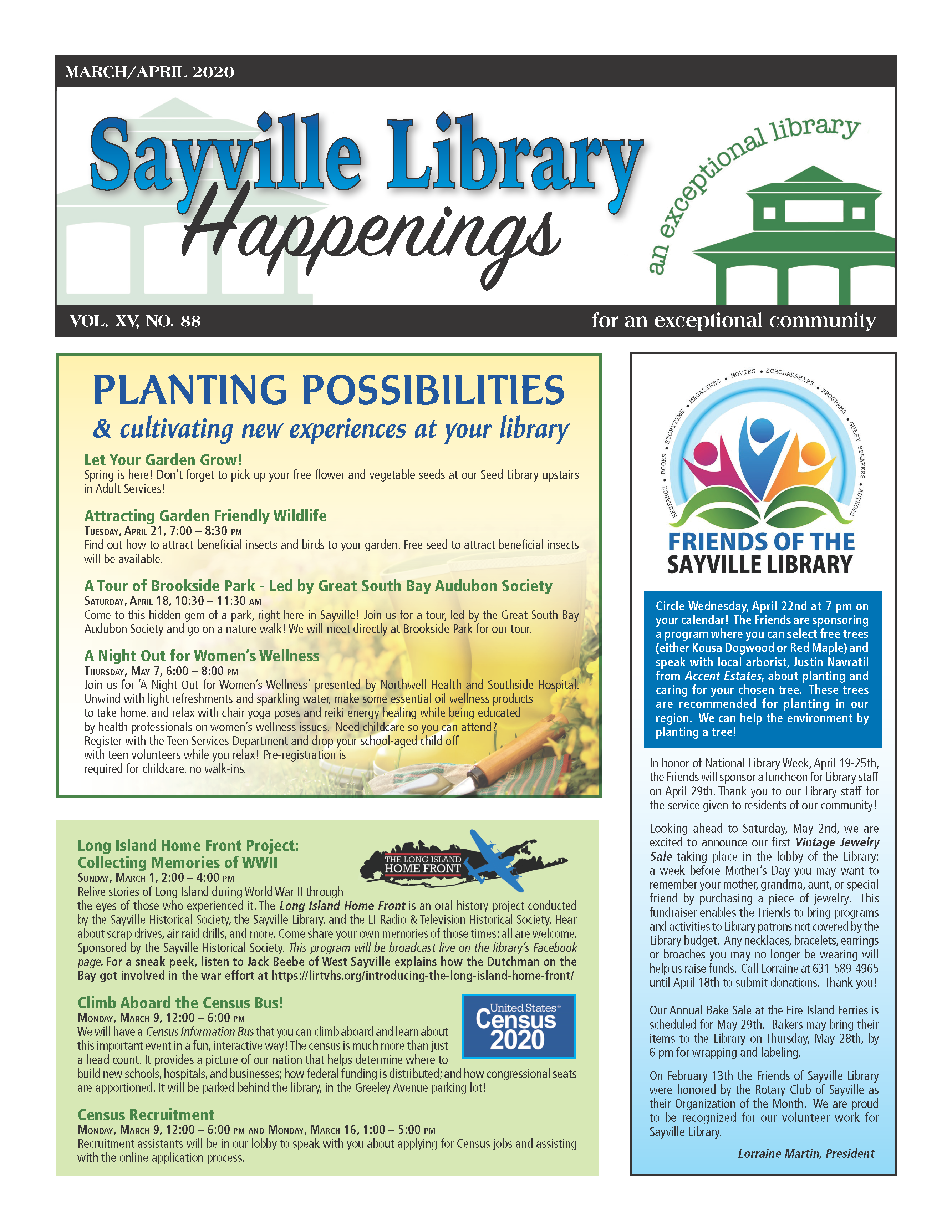 March/April 2020 newsletter front page thumbnail