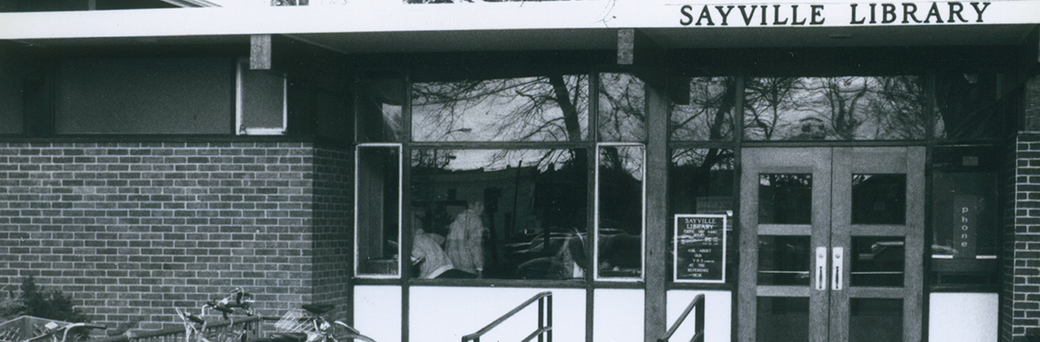 Sayville Library Exterior in 1982