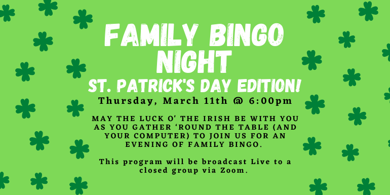 Family Bingo program March 11