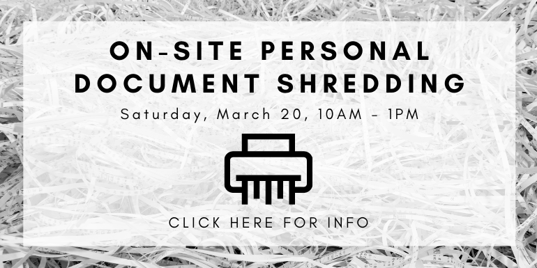 on site personal doc shredding march 20